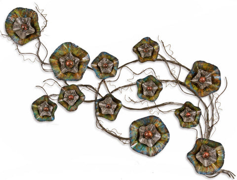 Blossoming Wall Sculpture - Innovations Designer Home Decor