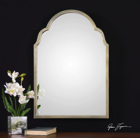 Brayden Petite Arched Silver Wall Mirror - Innovations Designer Home Decor