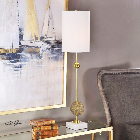 Breckyn Contemporary Antique Gold Buffet Lamp - Innovations Designer Home Decor