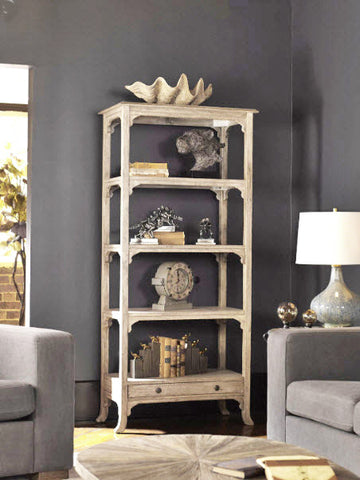 Bridgely Aged White Etagere - Innovations Designer Home Decor