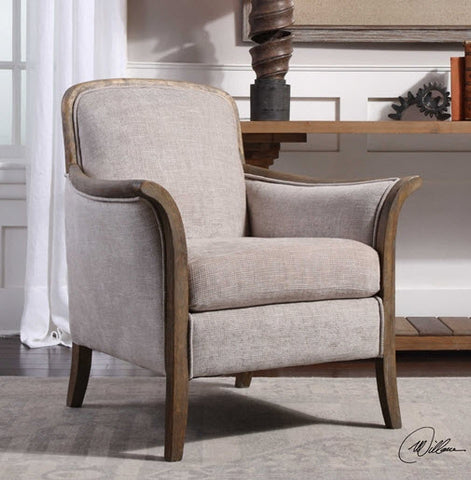 Brittoney Taupe Accent Chair - Innovations Designer Home Decor
