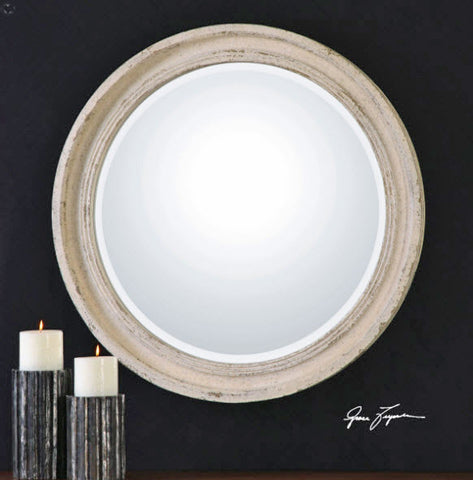Busalla Ivory Round Mirror - Innovations Designer Home Decor