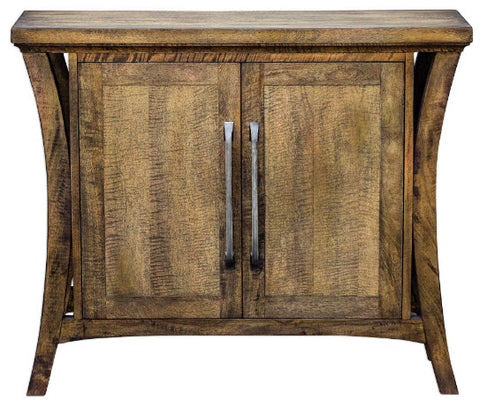 Cary Distressed Antique Honey Console Cabinet - Innovations Designer Home Decor