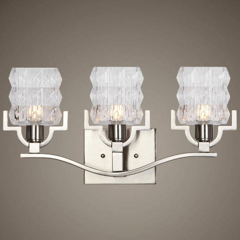 Copeman Brushed Nickel Vanity Lighting Fixture - Innovations Designer Home Decor