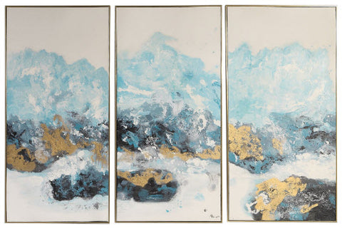 Innovations Designer Home Decor - Crashing Waves Impressionistic Hand Painted Artwork