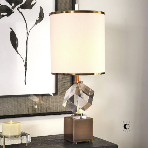 Cristino Contemporary Crystal Cube Table Lamp - Innovations Designer Home Decor
