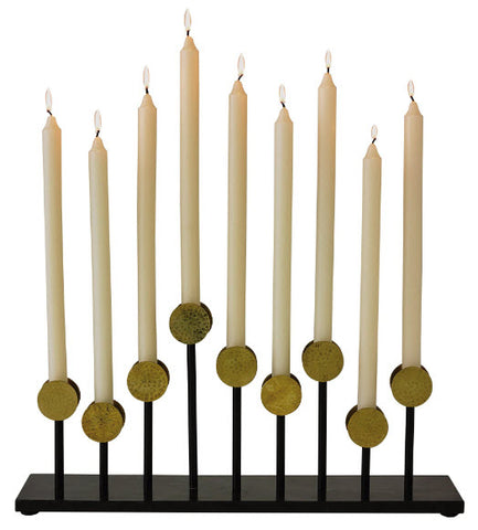 Crown Brass & Black Candelabra - Innovations Designer Home Decor