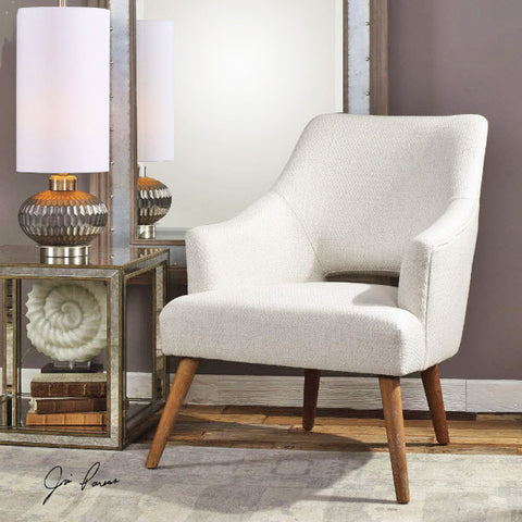 Dree Mid-Century Off-White Accent Chair - Innovations Designer Home Decor