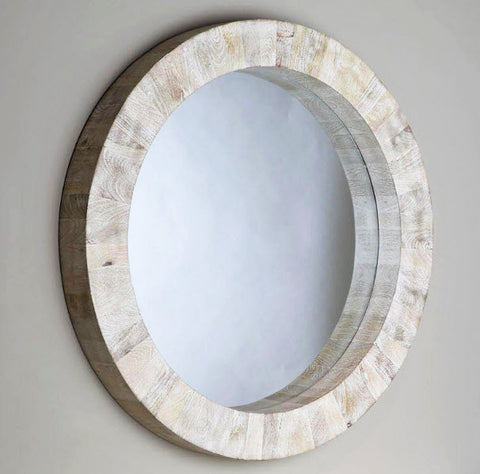 Driftwood Round Wall Mirror - Innovations Designer Home Decor