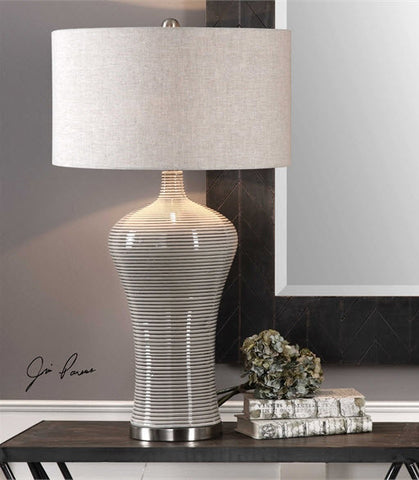 Dubrava Light Gray Table Lamp - Innovations Designer Home Decor