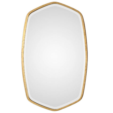 Duronia Antiqued Gold Leaf Wall Mirror - Innovations Designer Home Decor