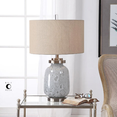 Eleanore Blue Gray Seeded Glass Table Lamp - Innovations Designer Home Decor