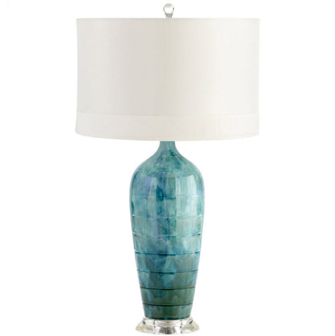 Elysia Teal Ceramic Table Lamp - Innovations Designer Home Decor