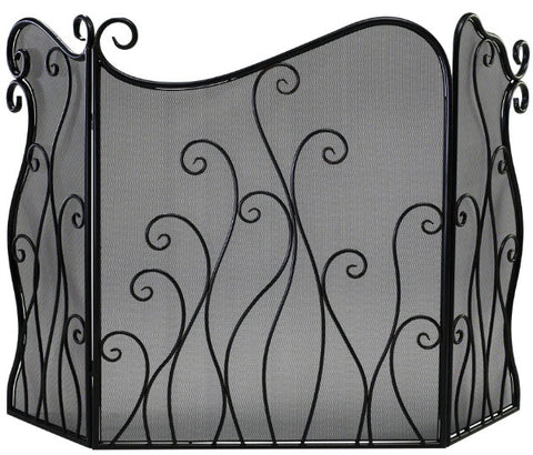 Evalie Bronze Iron Fireplace Screen - Innovations Designer Home Decor