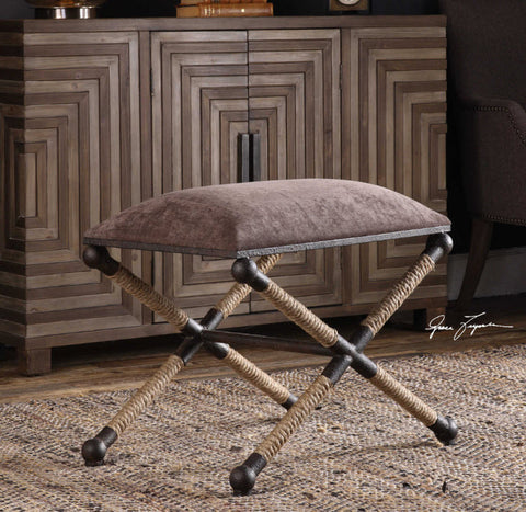 Evert Taupe Brown Accent Stool - Innovations Designer Home Decor