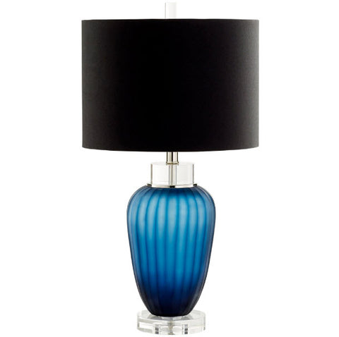 Fillmore Contemporary Sapphire Blue Glass Table Lamp - Innovations Designer Home Decor