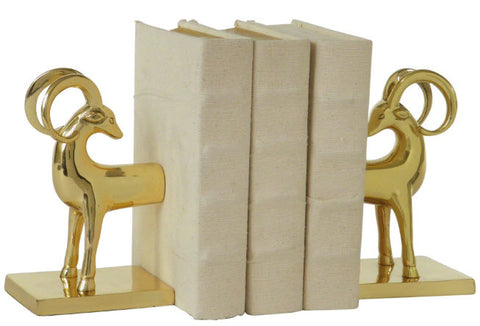 Gazelle Brass Bookends - Innovations Designer Home Decor