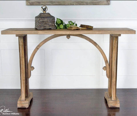 Genesis Rustic Reclaimed Wood Console Table - Innovations Designer Home Decor