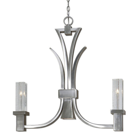 Glacio 2 + 1 Light Brushed Nickel Kitchen Island Fixture - Innovations Designer Home Decor