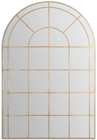 Grantola Large Scale Arched Windowpane Wall Mirror - Innovations Designer Home Decor