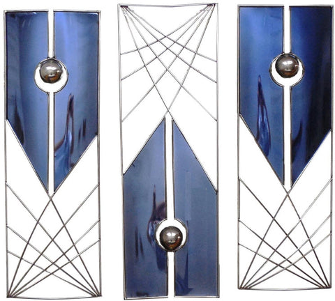 Gravitation Contemporary Wall Sculpture, 3-Piece Set - Innovations Designer Home Decor