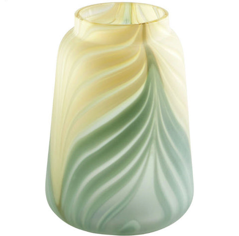 Hearts of Palm Small Swirled Art Glass Vase - Innovations Designer Home Decor
