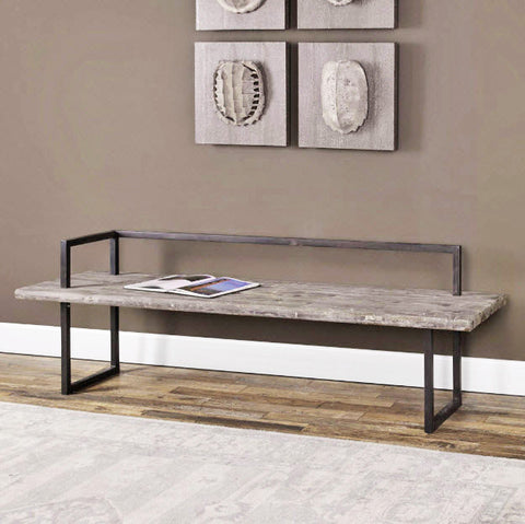 Herbert Rustic Reclaimed Wood Bench - Innovations Designer Home Decor