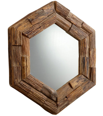 Hexagon Frontier Rustic Wall Mirror - Innovations Designer Home Decor