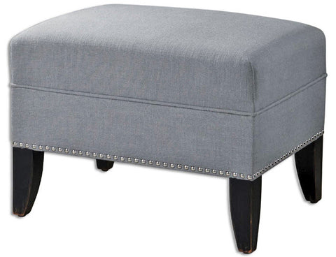 Honesta Zinc Linen Ottoman - Innovations Designer Home Decor