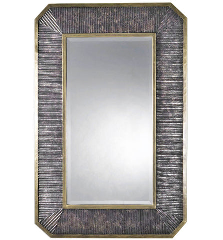 Isaiah Ribbed Bronze Wall Mirror - Innovations Designer Home Decor