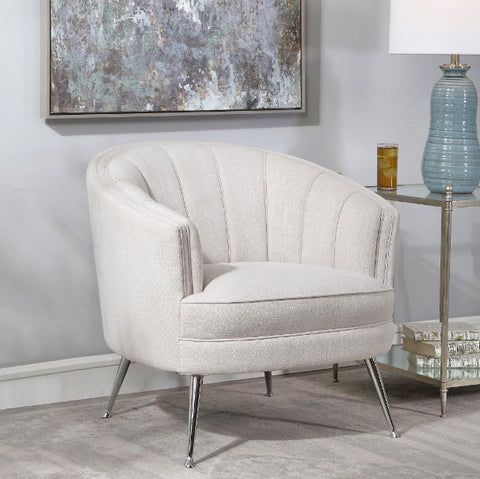 Janie Mid-century Modern Pale Gray Accent Chair - Innovations Designer Home Decor
