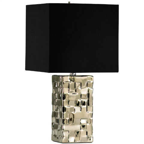 Java Contemporary Silver Accent Lamp - Innovations Designer Home Decor