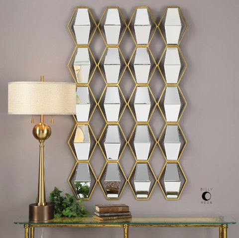 Jillian Contemporary Mirrored Wall Art - Innovations Designer Home Decor