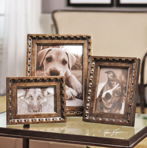 Kalya Antiqued Bronze Photo Frames - Innovations Designer Home Decor