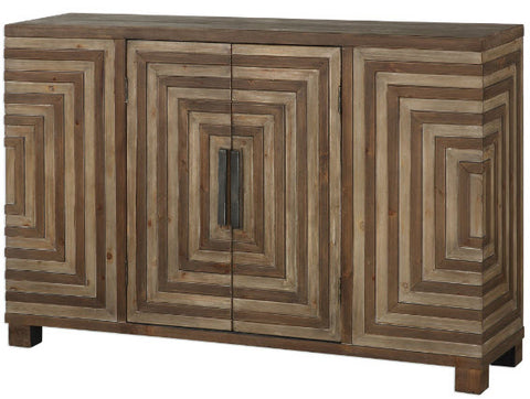 Layton Geometric Console Cabinet - Innovations Designer Home Decor