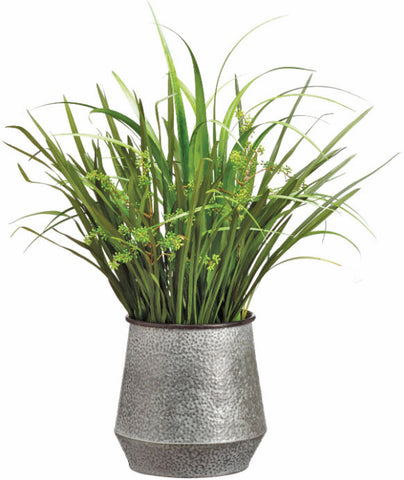 Lifelike Reed Grass & Sedum Greenery Arrangement - Innovations Designer Home Decor