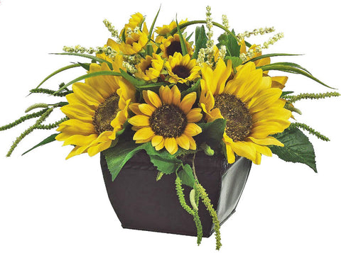 Lifelike Sunflower Floral Arrangement - Innovations Designer Home Decor