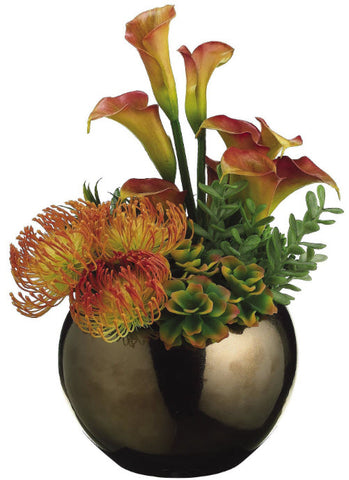 Lilies, Protea and Agave Lifelike Succulents - Innovations Designer Home Decor