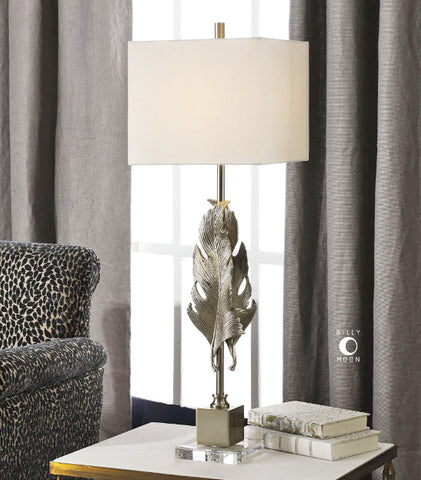 Luma Metallic Silver Champagne Buffet Lamp - Innovations Designer Home Decor