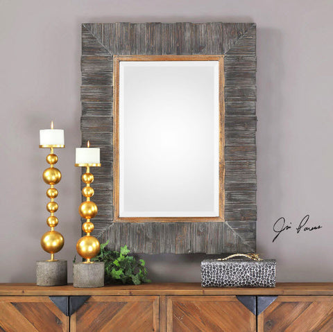 Mancos Rustic Solid Wood Framed Wall Mirror - Innovations Designer Home Decor