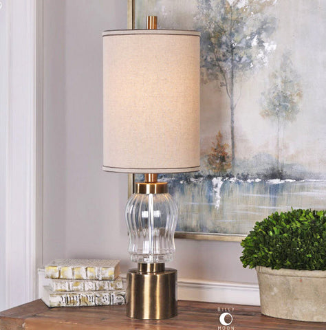 Manuela Ribbed Glass Buffet Lamp - Innovations Designer Home Decor