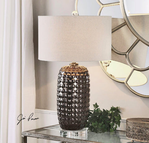Mazue Dark Bronze Ceramic Table Lamp - Innovations Designer Home Decor