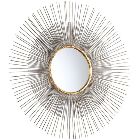 Pixley Medium Starburst Round Framed Wall Mirror - Innovations Designer Home Decor