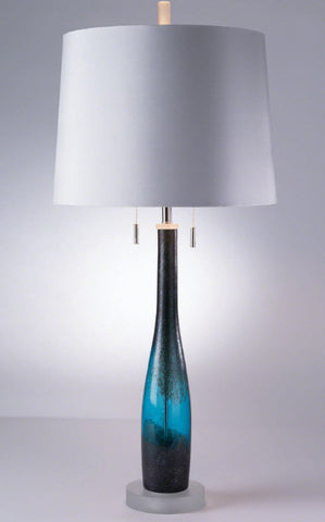 Metallic Blue Contemporary Glass Table Lamp - Innovations Designer Home Decor