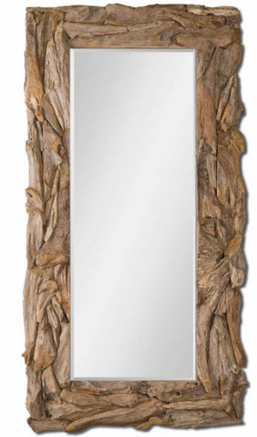 Natural Teak Root Oversized Wall Mirror - Innovations Designer Home Decor