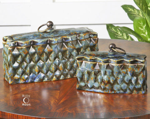 Neelab Decorative Containers, Set of 2 - Innovations Designer Home Decor