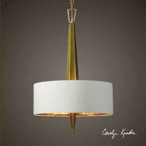 Obeliska 3-Light Gold Chandelier - Innovations Designer Home Decor
