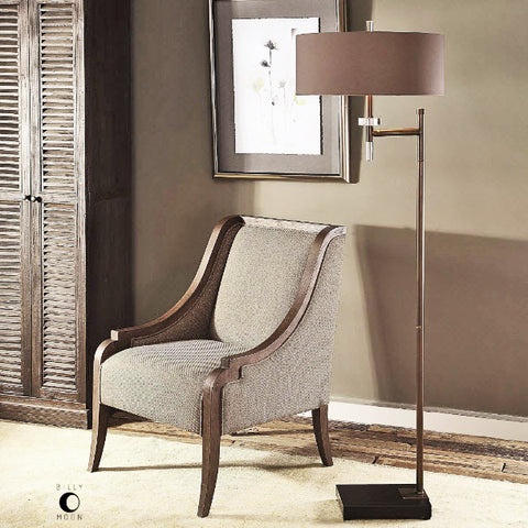 Oletha Oxidized Dark Bronze Floor Lamp  - Innovations Designer Home Decor