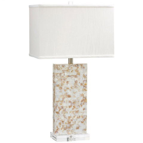 Palm Sands Mother of Pearl Table Lamp - Innovations Designer Home Decor