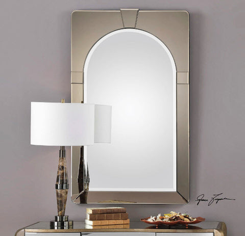 Paria Dark Antiqued Beveled Glass Framed Wall Mirror - Innovations Designer Home Decor